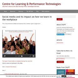 Social media and its impact on how we learn in the workplace