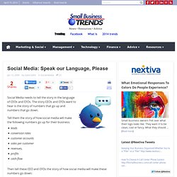 Social Media: Speak our Language, Please | Small Business Trends