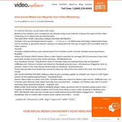 How Social Media Can Magnify Your Video Marketing