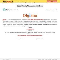 Social Media Management in Pune