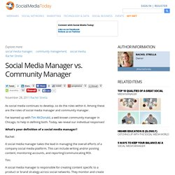 Social Media Manager vs. Community Manager