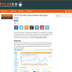 12 Of The Best Social Media Manager Tools