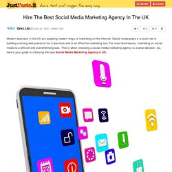 Hire The Best Social Media Marketing Agency In The UK