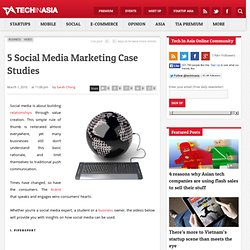 5 Social Media Marketing Case Studies