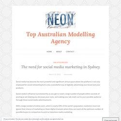 The need for social media marketing in Sydney