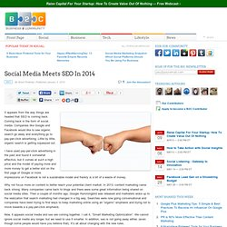 Social Media Meets SEO In 2014