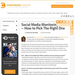Social Media Monitoring Tools - How to Pick The Right One | Guest Posts