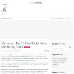 Top 15 Free Social Media Monitoring Tools