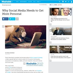 Why Social Media Needs to Get More Personal
