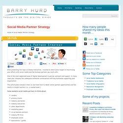Social Media Partner Strategy