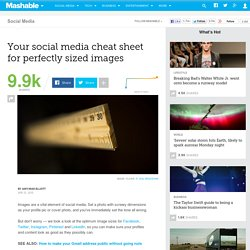 Your social media cheat sheet for perfectly sized images