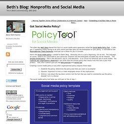 Got Social Media Policy?