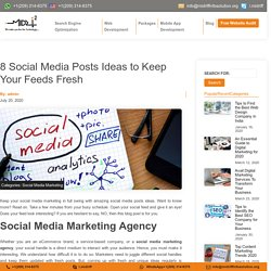 8 Social Media Posts Ideas To Keep Your Feed Fresh