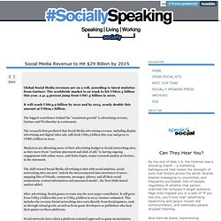 Social Media Revenue to Hit $29 Billion by 2015 - Speak Social