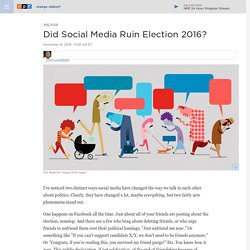 Did Social Media Ruin Election 2016?
