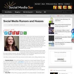 Social Media Rumors and Hoaxes