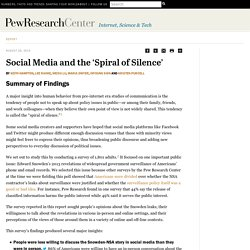 Social Media and the 'Spiral of Silence'