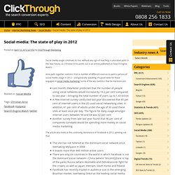 Social media: The state of play in 2012