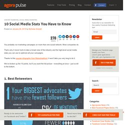 10 Social Media Stats You Have to Know - AgoraPulse