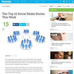 The Top 12 Social Media Stories This Week