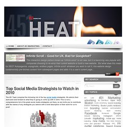 451 Heat » Top Social Media Strategists to Watch in 2010