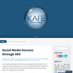 Social Media Success through SEO