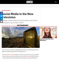 Social Media Is the New Television – Adweek