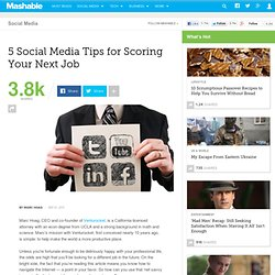 5 Social Media Tips for Scoring Your Next Job