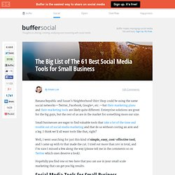 61 Best Social Media Tools for Small Business