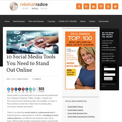 10 Social Media Tools You Need to Stand Out Online