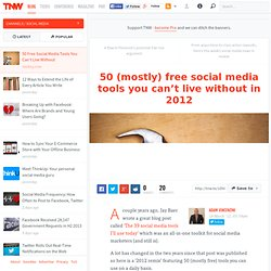 50 Free Social Media Tools You Can't Live Without