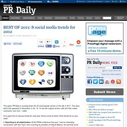 BEST OF 2011: 8 social media trends for 2012