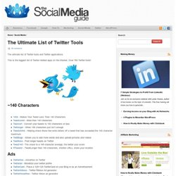 The Ultimate List of Twitter Tools | Using Social Media to help
