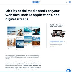 How to add a Social Media Feed to Your Website with Flockler