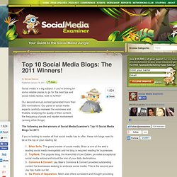 Top 10 Social Media Blogs: The 2011 Winners!