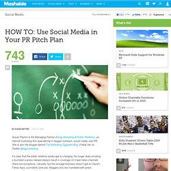 HOW TO: Use Social Media in Your PR Pitch Plan