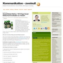 Social Media-Metrics: 100 Wege Social Media Kommunikation zu messen