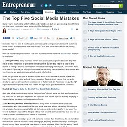 The Top Five Social Media Mistakes