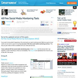 48 Free Social Media Monitoring Tools - Summify
