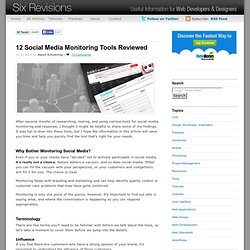 12 Social Media Monitoring Tools Reviewed