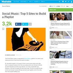 Social Music: Top 5 Sites to Build a Playlist