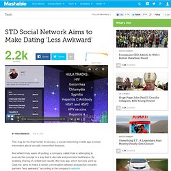 STD Social Network Aims to Make Dating 'Less Awkward'