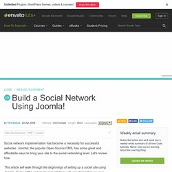 Build a Social Network Using Joomla! - Nettuts+