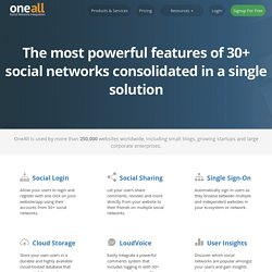 One API - All social providers | oneall.com
