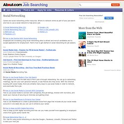 Social Networking - Social Networking for Job Search