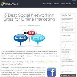3 Best Social Networking Sites for Online Marketing