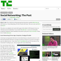 Social Networking: The Past