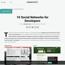 10 Social Networks for Developers