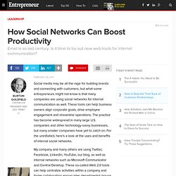 How Social Networks Can Boost Productivity