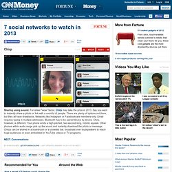 7 social networks to watch in 2013 - Chirp (7) - FORTUNE